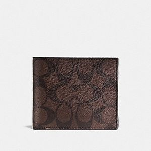 COACH F74993 SIGNATURE COMPACT ID WALLET